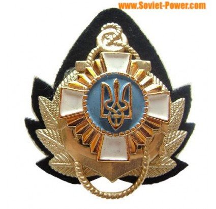 Ukraine Navy Officer hat badge with anchor 1