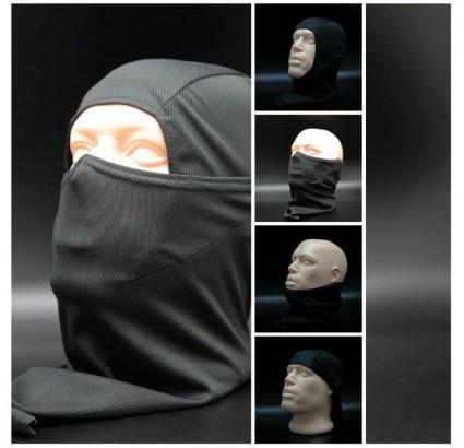 Hotte de tempête noire Balaclava Masque facial terroriste airsoft