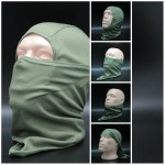 Balaclava Storm hood olive airsoft face mask