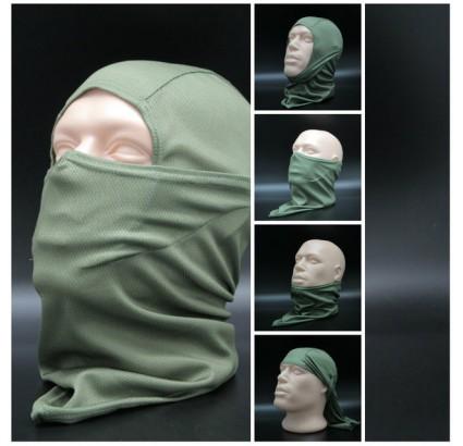 バラクラバストームフードオリーブエアーフェイスマスク