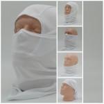White winter camo Balaclava face mask Russian military hood