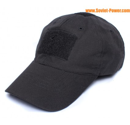 Ripstop tactical black hat BARS velcro baseball cap