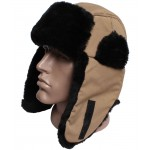 Winter earflaps modern synthetic ushanka hat with fur