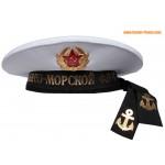 Russo navale cap senza alcun picco berretto da marinaio bianco