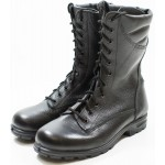 Schwarzes Leder Stiefeletten Spezialkräfte aus der russischen Armee