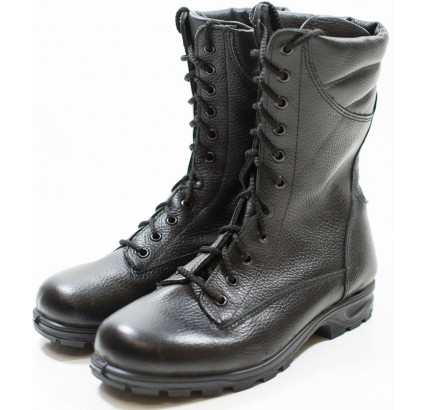 Black leather Ankle Boots Spetsnaz from Russian Army