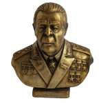 Russische Bronzebüste des sowjetischen kommunistischen Breschnew