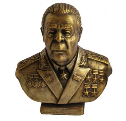 Buste russe en bronze du communiste soviétique Brejnev