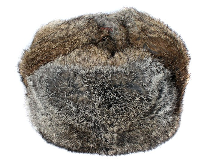 93fdc344d Brown soft rabbit fur modern winter hat ushanka