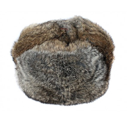 Brown soft rabbit fur modern winter hat ushanka