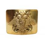 Hebilla de oro soviética para cinturón con águila MARINA