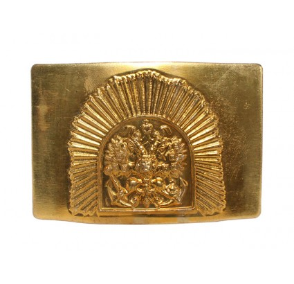 Golden buckle for belt - Russian Navy School