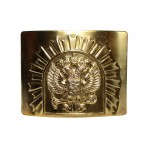 Russian golden buckle for belt with Double Eagle