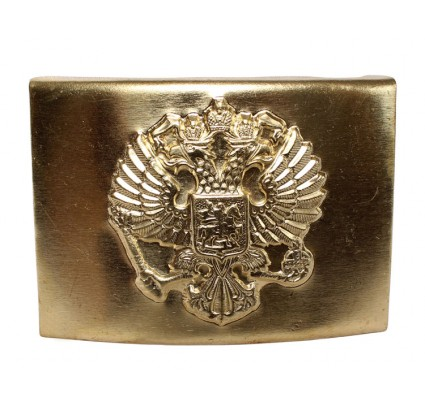 Golden officers buckle for belt with eagle Russian Federation