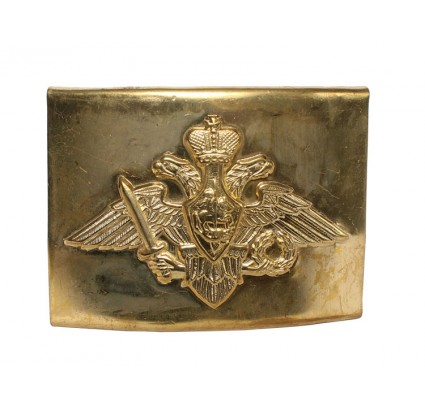Officers golden buckle for belt With eagle the Russian Army