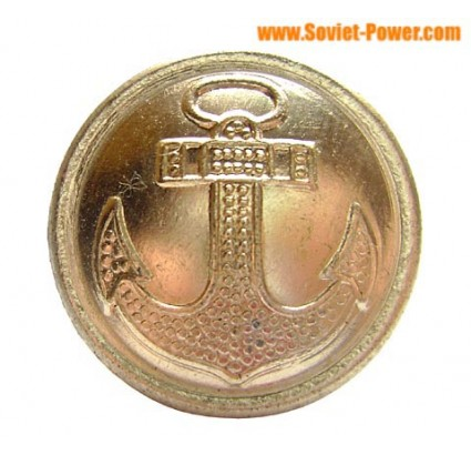 10 Big Anchor BUTTONS for NAVY Uniform of Soviet Officer