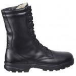 Botas militares altas Kalahari zapatos de cuero negro del ejército