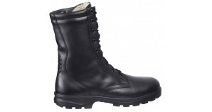 High military boots Kalahari black leather army shoes