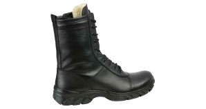Extreme 174 urban tactical winter boots with fur black leather