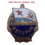 Soviet VMF VETERAN BADGE of USSR Naval Fleet