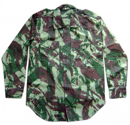 Russian Army Officers camouflage summer shirt