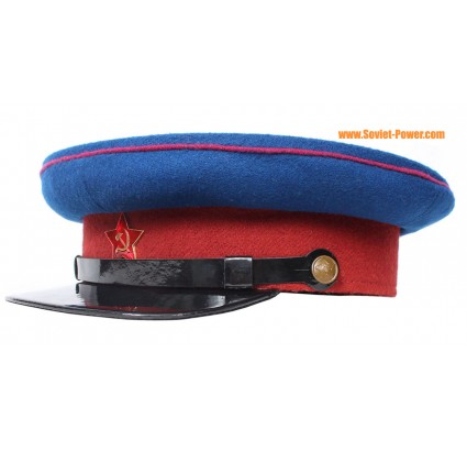 Soviet NKVD Officers WW2 Russian blue visor hat