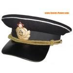 Sowjetische Armee Kapitän russischen Militärschirmmütze WW2 Typ