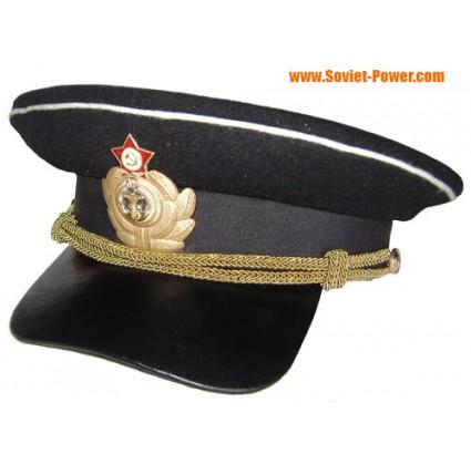 Soviétique Capitaine de l Armée russe casquette visière militaire de type WW2