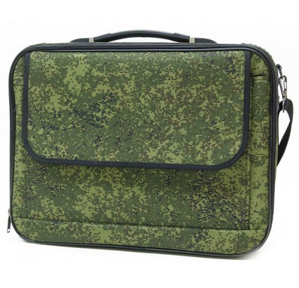 Camouflage business travel suitcase / laptop case with strap
