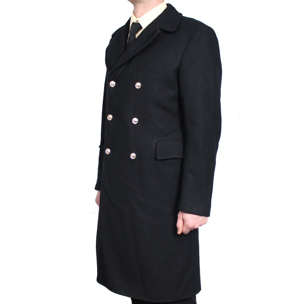 Sowjet schwarz langen Mantel aus russischen Marine Flotte