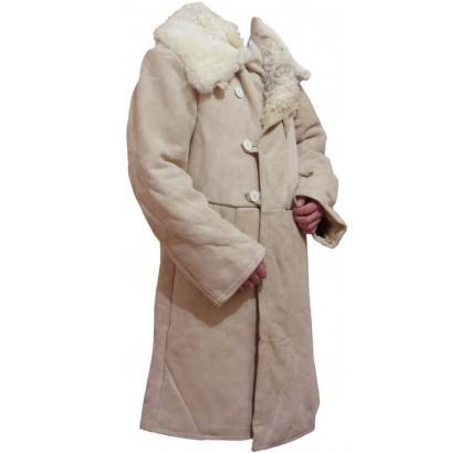 Soviétiques généraux suede en cuir surcouches long manteau