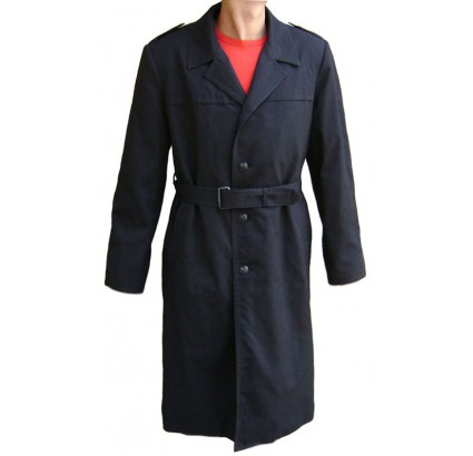 Russian Navy Fleet black military Officer OVERCOAT