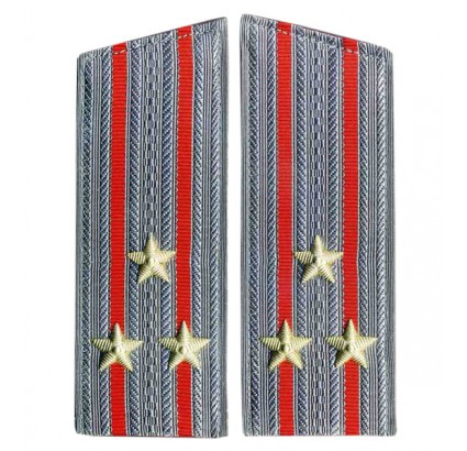 Combined Arms Senior Officers parade overcoats shoulder boards