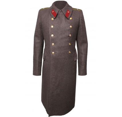 Soviet Army everyday Russian Officers brown overcoat