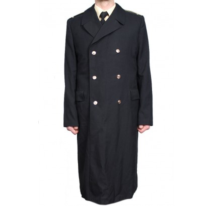 Soviet Navy Officers black semi-woolen long coat