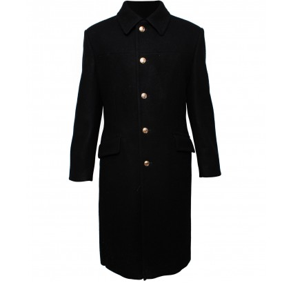Russian Navy woolen long black winter Coat