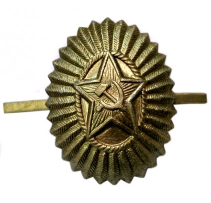 Field hat badge cockade Soviet Officers insignia