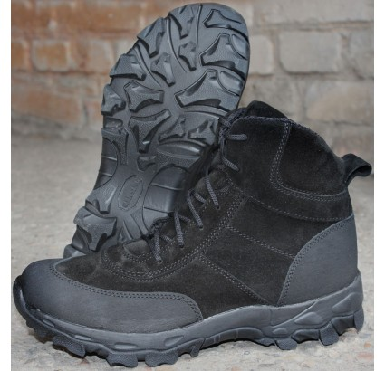 Tactical urban leather boots DELTA BLACK