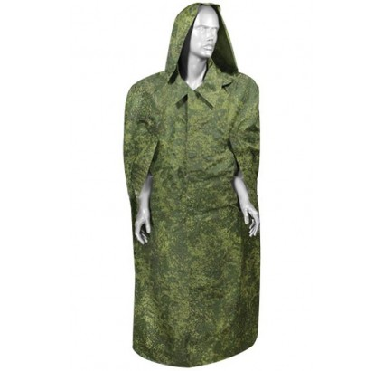 Russian Digital rubberized military raincoat