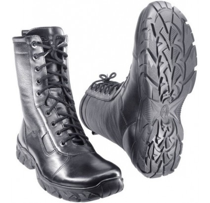 Black leather high Spetsnaz winter boots EXTREME