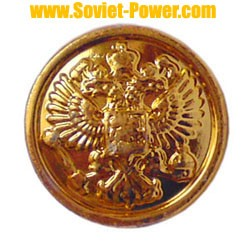 10 small buttons for Russian Army Officer uniforms