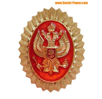 Russian Security Service hat insignia - Eagle on red
