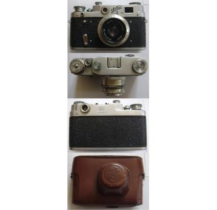 Cámara FED 3 rusa de 35 mm Industar 50 URSS copia Leica
