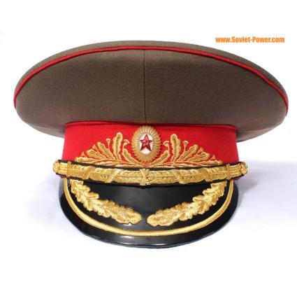 Esercito sovietico feldmaresciallo cappello della visiera berretto russo