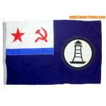 Sowjet wollenen Flagge von Hydrographie Schiff