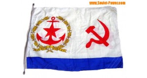 Soviet ship BIG Naval SILK FLAG with USSR Symbolics