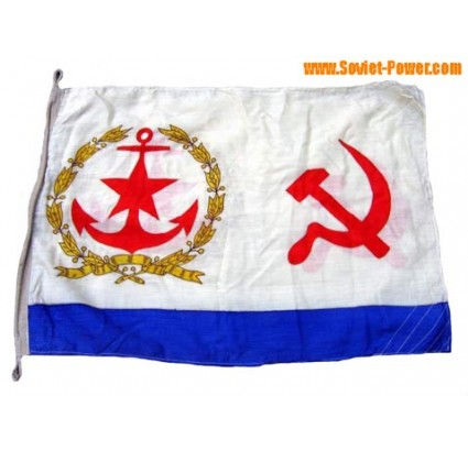 Soviet ship BIG Naval SILK FLAG with USSR Symbolics