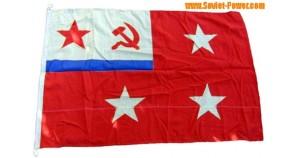 Soviet FLEET COMMANDER Russian Navy FLAG 3 stars