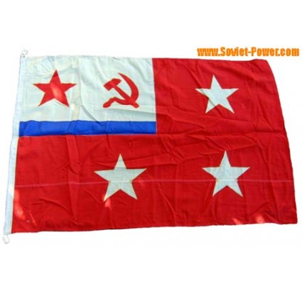 Soviet FLEET COMMANDER Russian Navy FLAG 3 stars