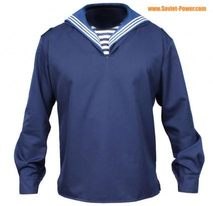 Sowjetischen / Marineseeleute blaue Jacke mit Kragen